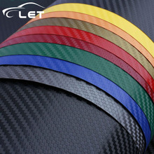 car styling 3D carbon fiber vinyl film car sticker waterproof car styling wrap for Auto Vehicle detailing car Accessories decal(China)