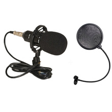 BM700 Microphone Professional Studio Microphone Karaoke Wired Mic Dynamic Stand Holder for computer +microphone pop filter