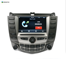 Best Selling IOKONE Car DVD Video Player GPS navi Stereo multimedia for HONDA ACCORD7 03-07 With Bluetooth SWC iPOD