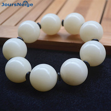 White Natural Bodhi Bracelets male Models Fashion Jewelry Seed Bracelet Accessories Men Bodhi Buddha Bead Hand String JoursNeige(China)
