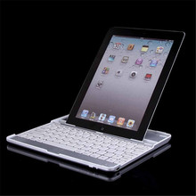 MOSUNX Futural Digital  New Aluminum Bluetooth Stand Keyboard Case Dock For Apple iPad 4th 3rd 2nd Nov28 Drop Shipping F20