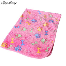 Pet Bed For Dogs 1 PC Hamsters Pad Blanket Pet Cat Mat Dog Puppy Warm Bed Paw Coral Fleece Cover Print S M L Wholesale D28