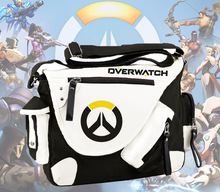 Game OW Shoulder Bags Vintage classic Canvas Crossbody Bags Overwatch Handbags cartoon Travel school bags Messenger Bags