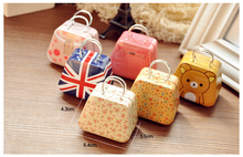 Best price quality Creative handbag bag iron Mini Storage small tin / coin box / candy box 50pcs