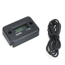 Digital Hour Meter Gauge LCD for Gasoline Engine Racing Motorcycle ATV Mower Snowmobile 0.1/99999Hrs 6 Colors Optional