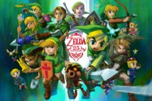 Home decoration  video games link the legend of zelda Silk Fabric Poster Print YR048