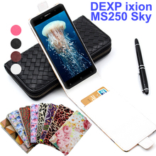 Classic Luxury Advanced Top Leather Flip Colorful Leather Cases For DEXP Ixion MS250 Sky Case Cover With Card Slot In Stock