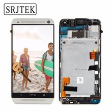 Original 4.7 '' Display For HTC ONE M7 LCD Touch Screen with Frame HTC ONE M7 Display Digitizer Assembly 801e 802D 802D 802W(China)