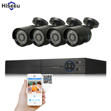 Hiseeu Security Camera System 4ch CCTV System 5in1 DVR DIY Kit 4 x 1080P AHD Security Camera 2.0mp Camera Surveillance System(China)