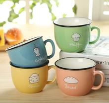 Creative Candy Color Ceramic Mug Coffee Milk Breakfast Cup Cute Porcelain Tea Mugs 250ml Novetly Gifts