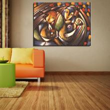 Guitar Musical Instruments Figure Painting Abstract Canvas Home decor Spray Frameless drawing Oil Painting not handmade gift