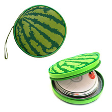 FW1S 1PC Watermelon Shape 24  Discs Slots CD Holder Sheet DVD Case Storage Wallet Disc Organizer Storage Bags