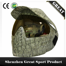 GREAT Grassland or Navy Camo Tactical Military PAINTBALL MASK with Visor and DYE I4 Dual Lenses Goggle(China)