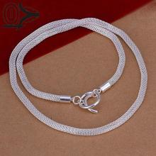 New Design!!Wholesale Silver Plated Necklace & Pendant,Fashion Jewelry Accessories,Mesh Net TO Silver Necklaces
