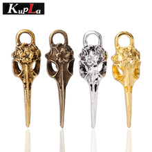 Kupla Metal Skull Bird Charms Fashion Animal Birdhead Pendant Charms DIY Jewelry Making Bird Pendant Charms 20pcs 12*41mm C5570