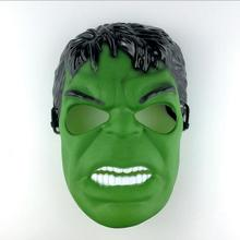 5 Pcs/lot Brand New Hot Sale Head green giant rubber latex mask cartoon Hulk mask for carnival and party halloween Free Shipping
