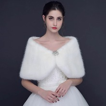 Fashion Wedding Wrap White Winter Bridal Jackets Off The Shoulder Short Crystal beaded Wedding Party Jacket 2018 New Arrival(China)