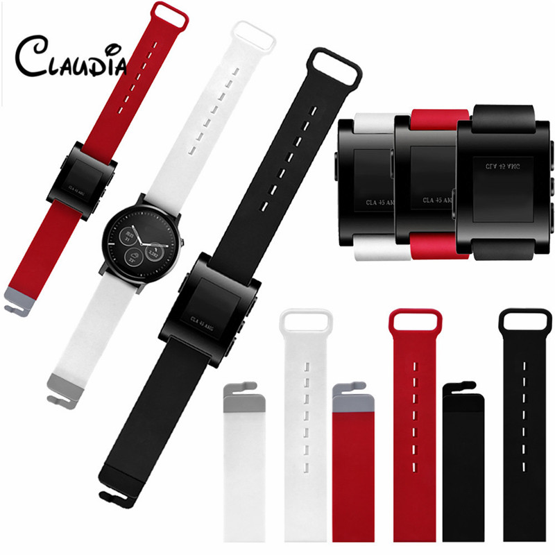High Quality Colorful Luxury Soft Silicone Strap Replacement Watch Band For Moto 360/Pebble Time Accessories Louise<br><br>Aliexpress