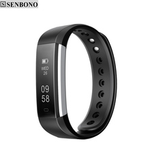 SENBONO SBN115 Bluetooth Sport Smart Wristband support Pedometer Sedentary Remote Camera Anti-lost Alarm Clock Band