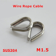 50pcs M1.5 Wire Rope Cable 304 Stainless Steel 1.5mm Triangle Thimble Clamps Wirerope Cables(China)