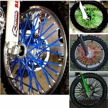72pcs Universal Motorcycle Dirt Bike Enduro Off Road Wheel Rim Spoke Shrouds Skins Covers KTM For HONDA for YAMAHA for KAWASAKI