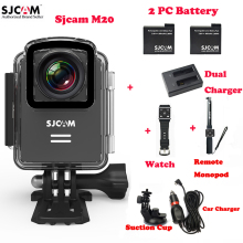 SJCAM M20 Wifi 30M Waterproof Sports Camera Sj Cam DVR+2Battery+Dual Charger+Remote Watch+Remote Monopod+Car Charger+Suction Cup