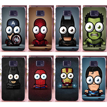 Cool Big eyes small Superman PC Printing Case shell For Samsung Galaxy S2 SII i9100 Phone Case Cover Hood Best selling
