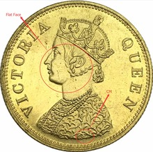 New Products 1870 CM Ten Rupees Brass Metal Replica Coins Victoria Queen India Gold Coin Good Quality(China)