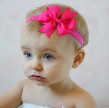 1pcs 3.2 inch Baby Girl Ribbon Hair Bows Headbands Artificial Toddler Infant Bowknot Hair band Children Hair Accessories