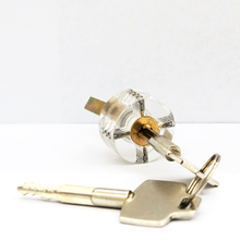 Locksmith supplies transparent lock locksmith Cross practicing transparent cylinder lock cylinder wholesale