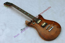 firehawk China 's G prs Guita Wholesale Newest Explorer electric guitar High quality brown tiger stripes  EMS free shipping