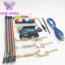 Arduino uno r3 starter kit 13 in 1 kit new Starter Kit  mini Breadboard LED jumper wire button arduino uno r3 as a gift