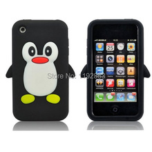 Cute Penguin Soft Silicone Rubber Mobile Phone Case Cover For iPhone 3 3G 3GS