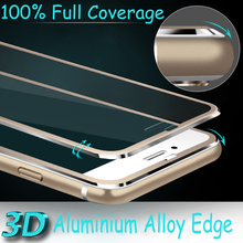 Aluminum alloy Tempered glass Coque For iphone X 8 5 5S SE 5C 6 6S 7 Plus Case Full  coverage cover Fundas