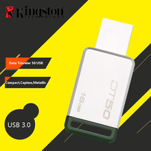 Kingston USB Flash Drive 16GB Pen Drives 3.0 64GB USB 3.1 Metal Pen Drive 32GB 128GB 8GB U Disk High Speed USB Memory Stick(China)