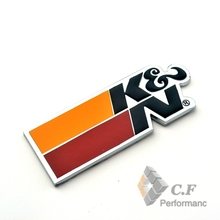 Rhino Tuning K&N Filters Car Badge Metal Sticker Auto Accessories Car Side Plate Emblem For HB20 Ka Onix Palio Gol 094(China)