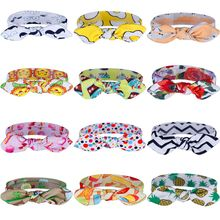 1 Pc 12 Styles Kids Girl Printing Headband Hair Bowknot Headwear Hair Decoration Girls Headwear Hair Accessories(China)