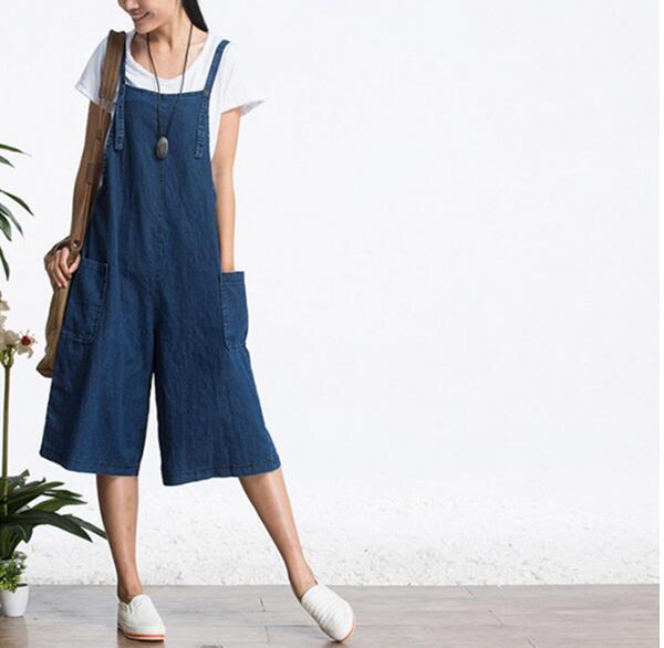 Vintage Gewellt Breiten Bein Shorts Weibliche Lose Hohe Taille Jeans Shorts 2018 Harajuku Blau Casual Sommer Denim Kurzen Feminino Geschenke