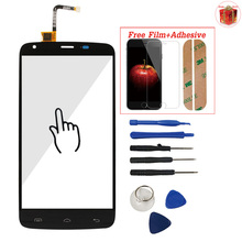 Mobile Phone For Doogee T6 / T6 Pro Front Class Touch Screen Digitizer Panel Assembly Lens Sensor Adhesive Screen Protector Gift