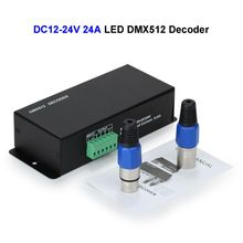 2pcs DC12V 24V 24A LED DMX512 Controller Decoder DMX For SMD 3528 5050 5730 RGB LED Strip Rigid Module