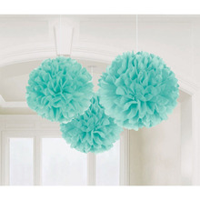 Mixed Size Tiffany Blue Chinese Tissue Paper Artificial Flower Balls Wedding Decoration Crafts Party Home Festive Event Supplies
