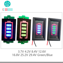 1S 2S 3S 4S 6S 7S Lithium Battery Capacity Indicator Module Blue Green Display 4.2V 8.4V 12.6V 16.8V 25.2V 29.4V Power Level(China)