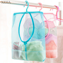 XZJJA Hanging Storage Bag Bathroom Soap Towel Debris Draining  Mesh bag Organizer Balcony Socks Underwear Drying Clothes Basket