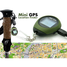 Mini Keychain GPS Tracker Handheld Compass Location Finder Small Pocket GPS Tracking System Pathfinding Kits for Camping Hiking