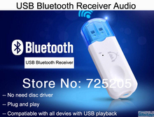 Bluetooth Wireless Receiver USB Audio Receiver Stereo Bluetooth4.0 USB Amplifier Speaker Music Converter White Free Shipping