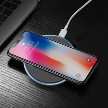 Buy D6 Plus Ultra-thin Fast Wireless Charging Charger Pad iPhone 8/Samsung Galaxy S8 etc. Black for $17.08 in AliExpress store