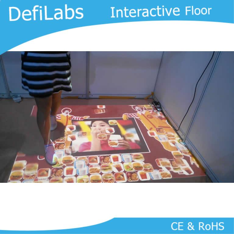 DefiLabs 3D projection screen and lowest price interactive floor system with 130 effects