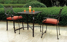3-piece New design bar table and chair cast aluminum garden furniture for outdoor