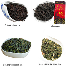 4 Different Flavors Famous Tea, 12small bags including Nourishing the liver Tea,Oolong Tieguanyin t,Dahongpao ,black oolong tea