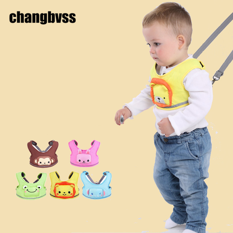Cute Cartoon Pattern Toddler Baby Walking Harness Safety Baby Walking Assistant Leash Backpack Adjustable Infant Walking Belt(China)